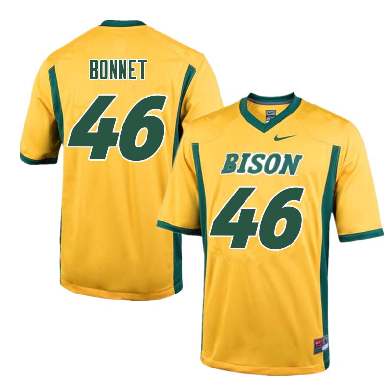 Men #46 Andrew Bonnet North Dakota State Bison College Football Jerseys Sale-Yellow