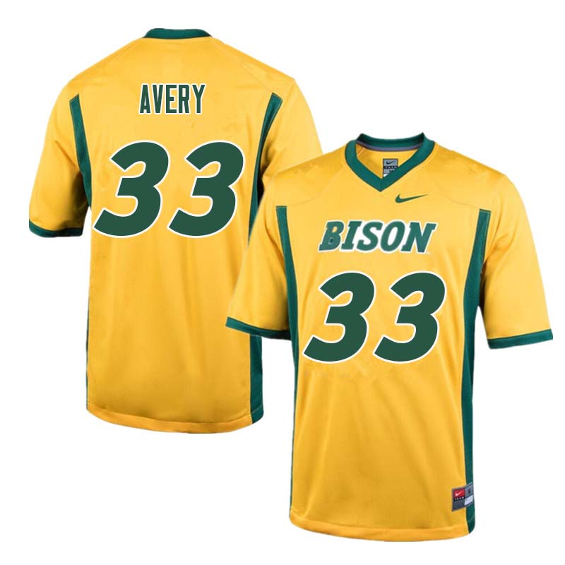 Men #33 Austin Avery North Dakota State Bison College Football Jerseys Sale-Yellow