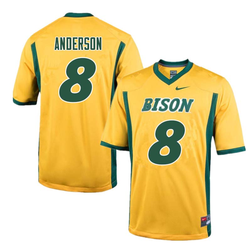 Men #8 Bruce Anderson North Dakota State Bison College Football Jerseys Sale-Yellow