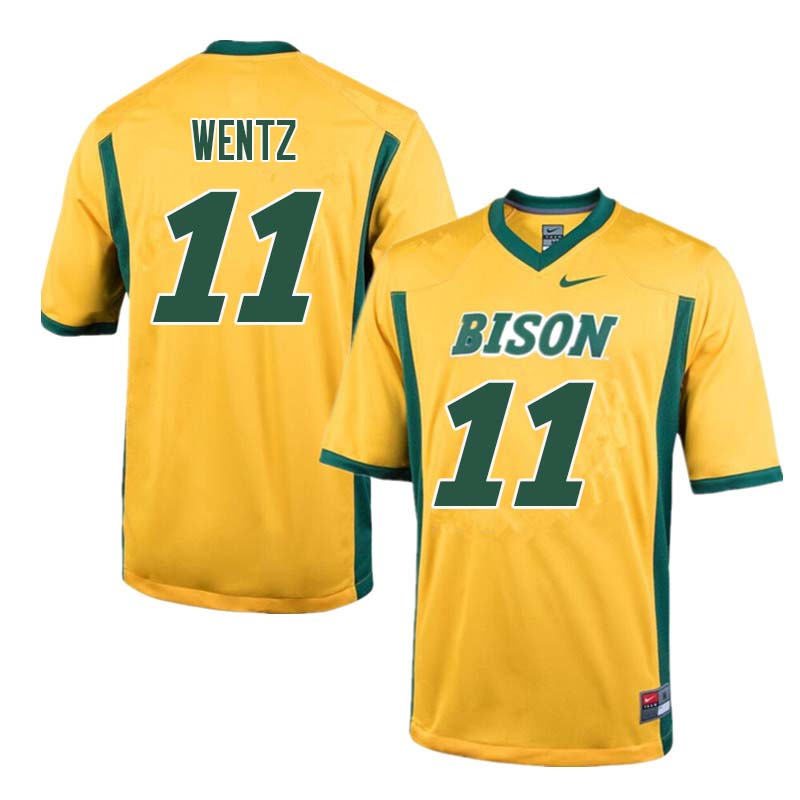 Men #11 Carson Wentz North Dakota State Bison College Football Jerseys Sale-Yellow