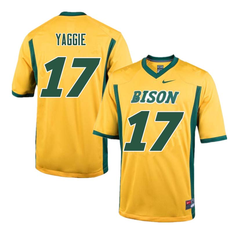 Men #17 Carson Yaggie North Dakota State Bison College Football Jerseys Sale-Yellow