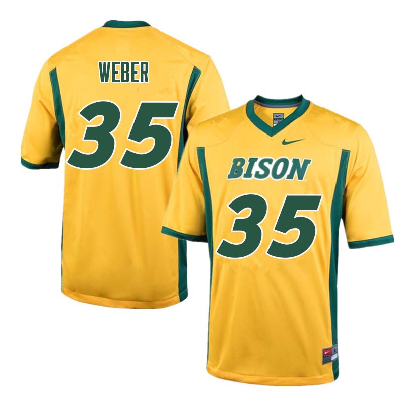 Men #35 Dawson Weber North Dakota State Bison College Football Jerseys Sale-Yellow