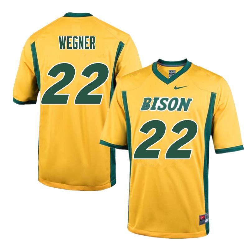 Men #22 Garret Wegner North Dakota State Bison College Football Jerseys Sale-Yellow