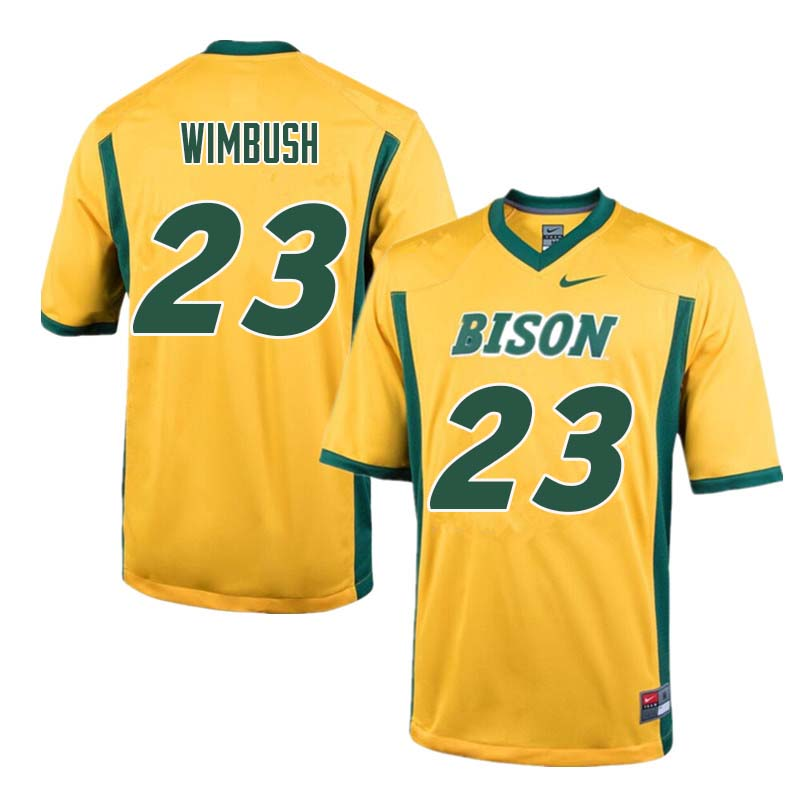Men #23 Jaylaan Wimbush North Dakota State Bison College Football Jerseys Sale-Yellow