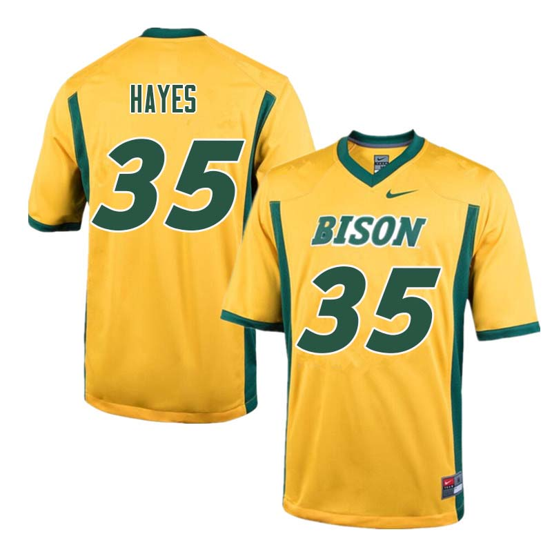 Men #35 Josh Hayes North Dakota State Bison College Football Jerseys Sale-Yellow