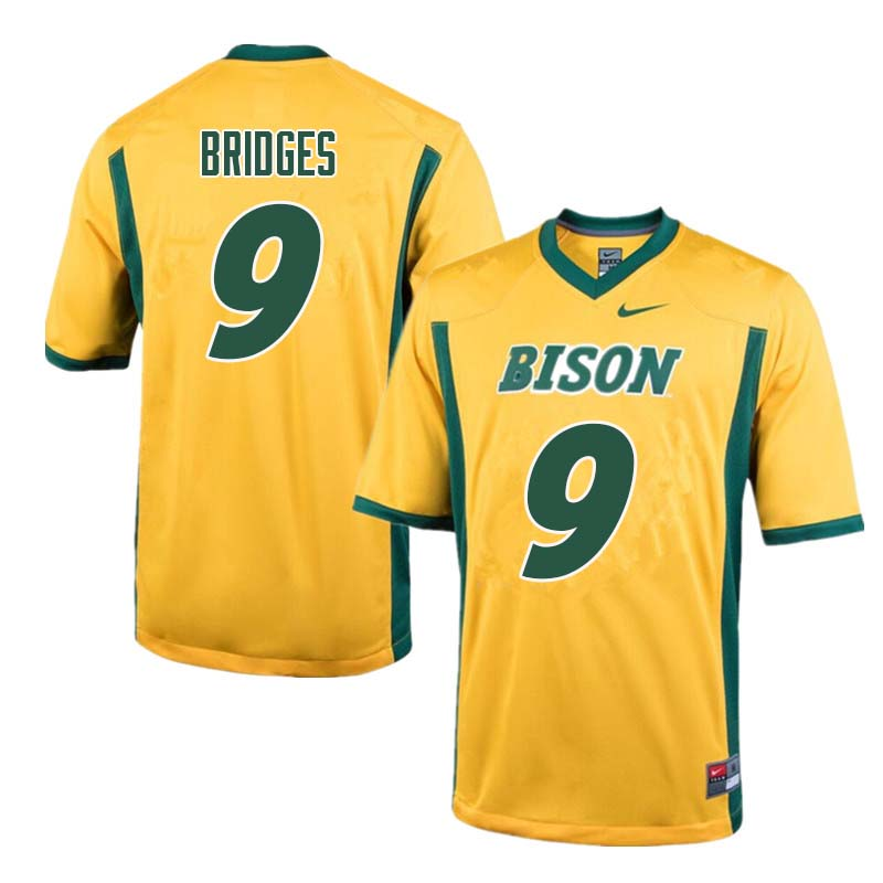 Men #9 Marquise Bridges North Dakota State Bison College Football Jerseys Sale-Yellow