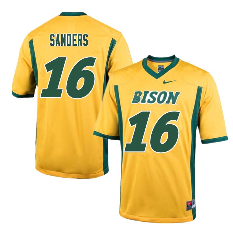 Men #16 Noah Sanders North Dakota State Bison College Football Jerseys Sale-Yellow