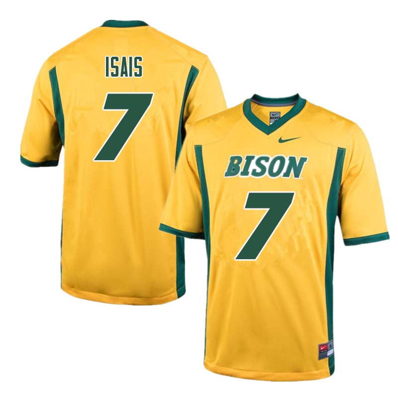 Men #7 Peter Isais North Dakota State Bison College Football Jerseys Sale-Yellow