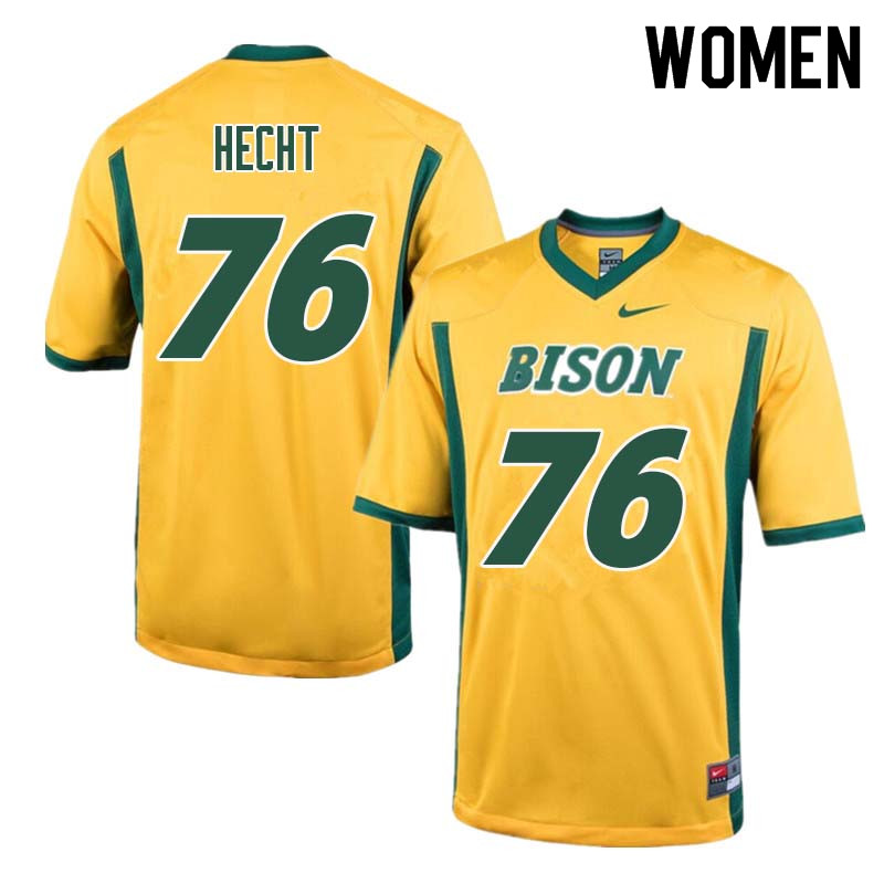 Women #76 Ben Hecht North Dakota State Bison College Football Jerseys Sale-Yellow