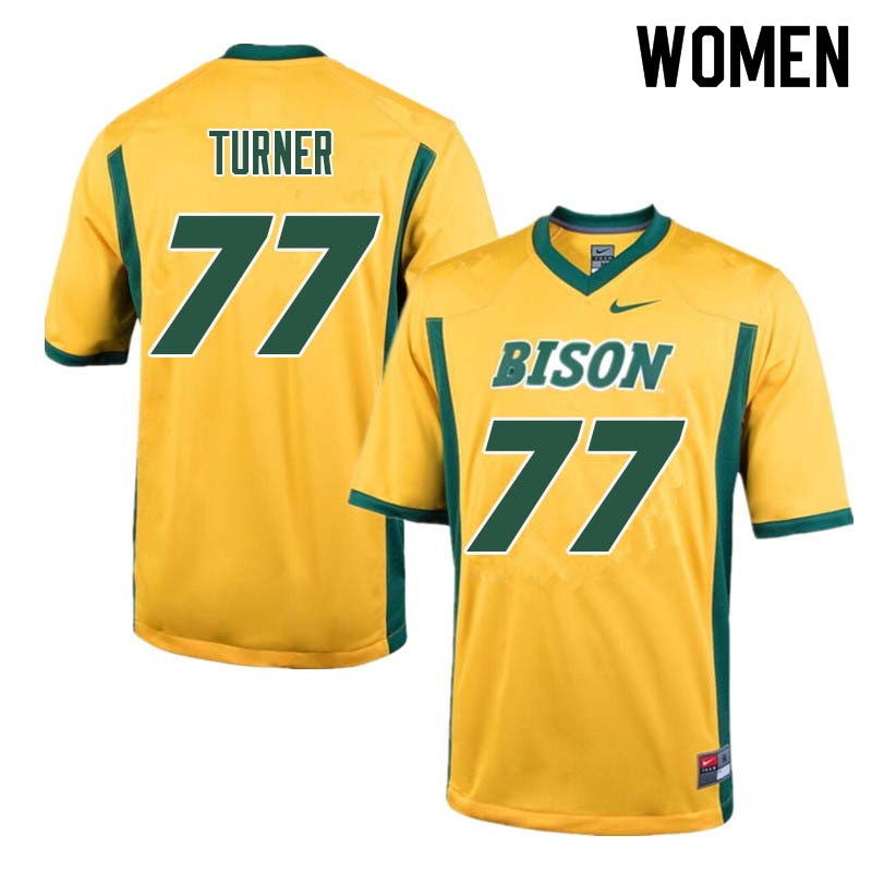 Women #77 Billy Turner North Dakota State Bison College Football Jerseys Sale-Yellow