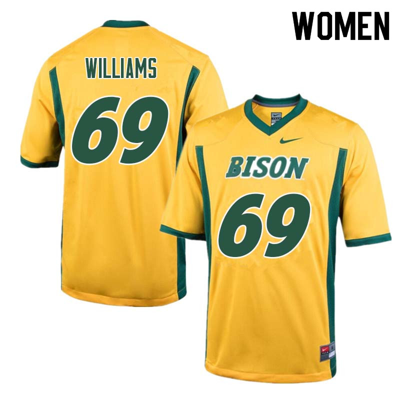 Women #69 Blake Williams North Dakota State Bison College Football Jerseys Sale-Yellow