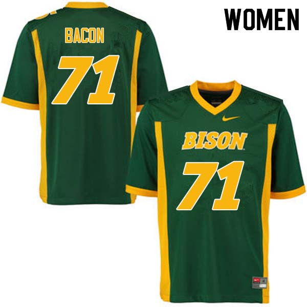 Women #71 Luke Bacon North Dakota State Bison College Football Jerseys Sale-Green