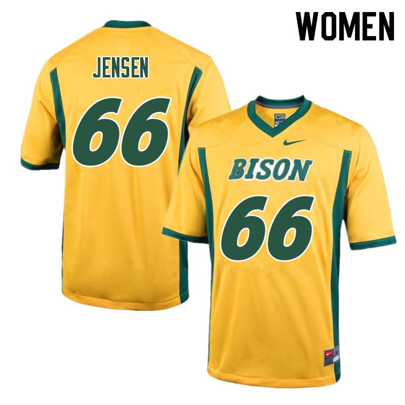 Women #66 Nash Jensen North Dakota State Bison College Football Jerseys Sale-Yellow