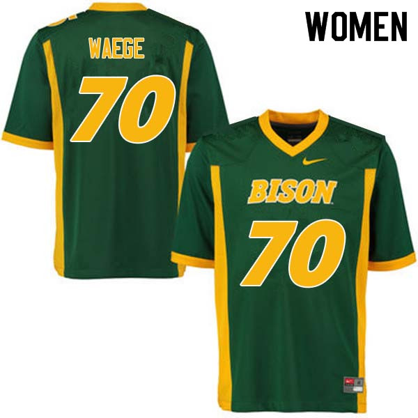 Women #70 Spencer Waege North Dakota State Bison College Football Jerseys Sale-Green