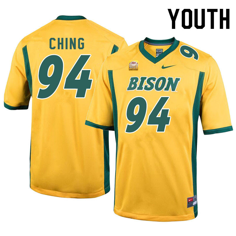 Youth #94 Costner Ching North Dakota State Bison College Football Jerseys Sale-Yellow
