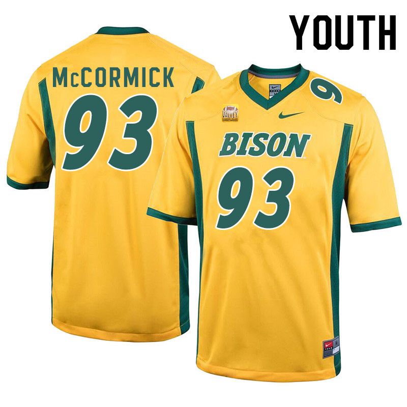 Youth #93 Logan McCormick North Dakota State Bison College Football Jerseys Sale-Yellow