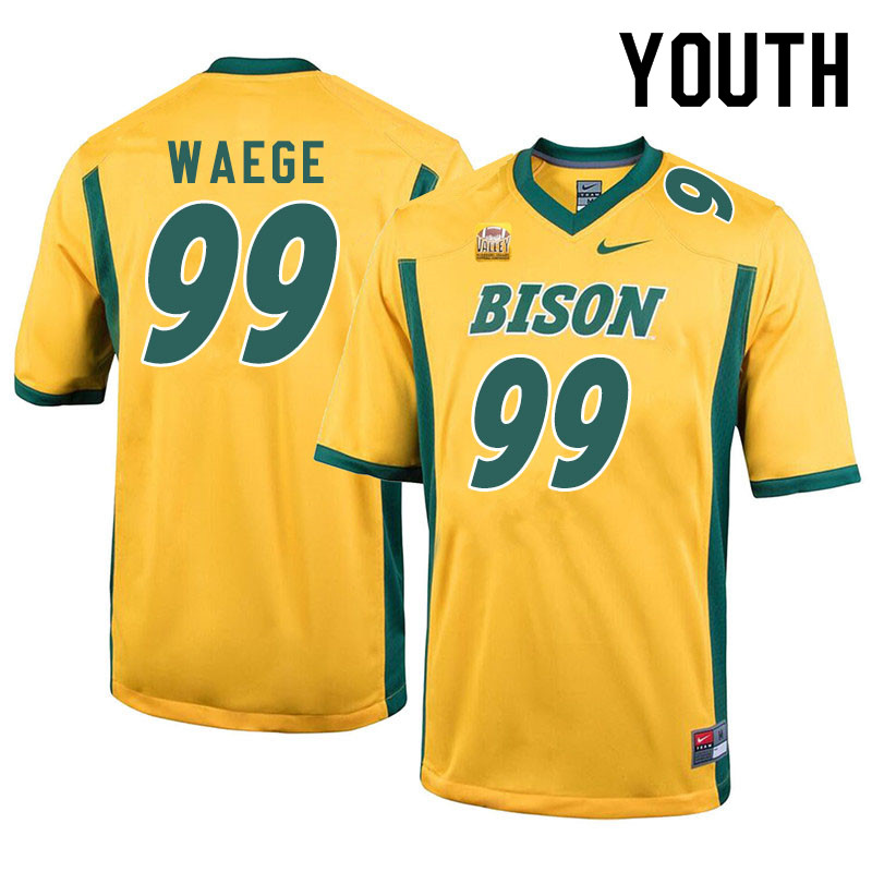 Youth #99 Spencer Waege North Dakota State Bison College Football Jerseys Sale-Yellow