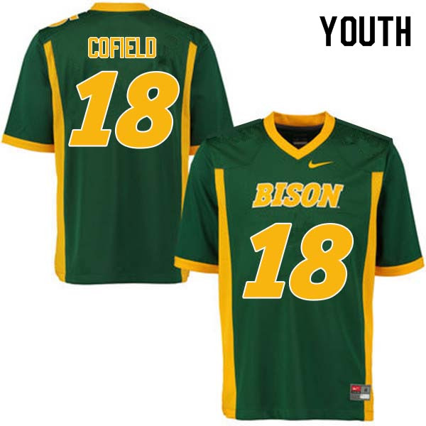 Youth #18 Adam Cofield North Dakota State Bison College Football Jerseys Sale-Green