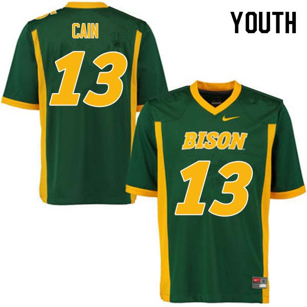 Youth #13 Desmond Cain North Dakota State Bison College Football Jerseys Sale-Green