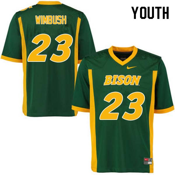 Youth #23 Jaylaan Wimbush North Dakota State Bison College Football Jerseys Sale-Green