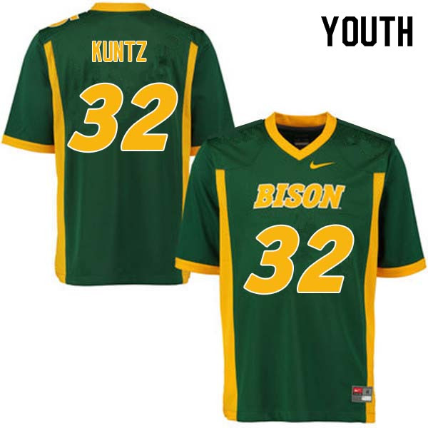 Youth #32 Zak Kuntz North Dakota State Bison College Football Jerseys Sale-Green